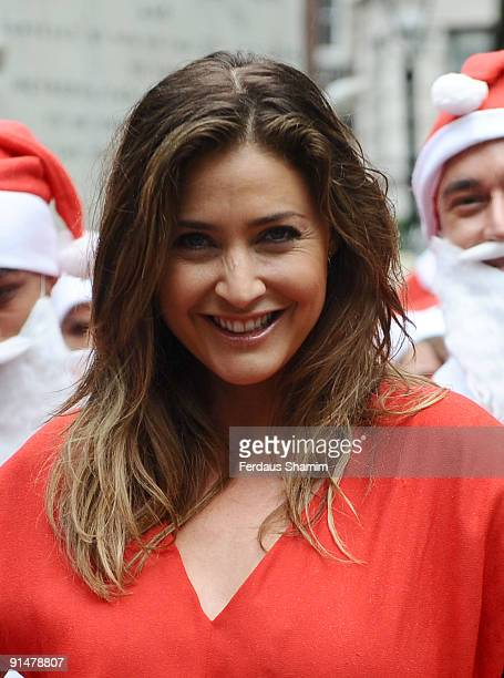 Lisa Snowdon attends the launch photocall for Late Night London's Santa Fun Run at Leicester Square on October 6 2009 in London England