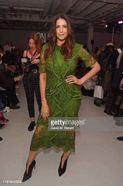 Lisa Snowdon attends the Pam Hogg front row during London Fashion Week September 2019 at Victoria House on September 13 2019 in London England