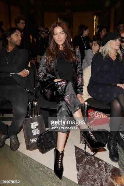 Lisa Snowdon attends the Pam Hogg show during London Fashion Week February 2018 at The Freemason's Hall on February 16 2018 in London England