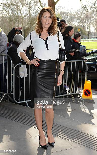 Lisa Snowdon attends the TRIC awards at The Grosvenor House Hotel on March 12 2013 in London England