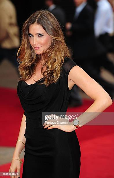 Lisa Snowdon attends the UK premiere of The Expendables at Odeon Leicester Square on August 9 2010 in London England