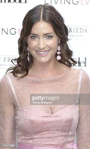 Lisa Snowdon during Britain's Next Top Model Launch Party Arrivals at Debenham House in London Great Britain