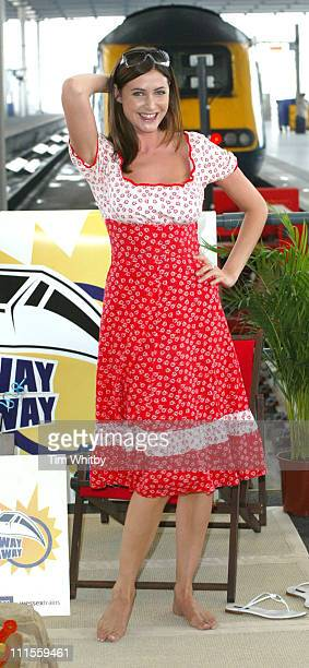 Lisa Snowdon during Getaway Giveaway Launch Photocall at St Pancras Station in London Great Britain