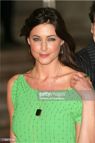 Lisa Snowdon during The 25th Brit Awards Arrivals at Earls Court 2 in London Great Britain