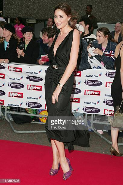 Lisa Snowdon during The Daily Mirror 2005 Pride of Britain Awards at TV Center in London Great Britain