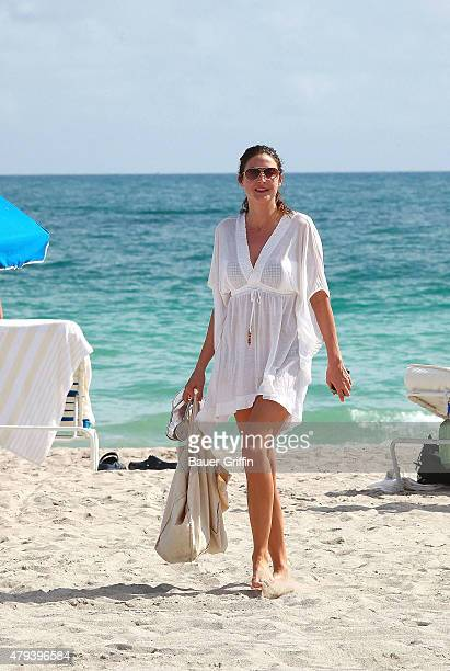 Lisa Snowdon is seen on Miami Beach on February 03 2011 in Miami Florida