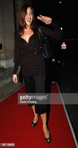 Lisa Snowdon leaves the aftershow party following the UK Premiere of In Her Shoes at the Grosvenor House Hotel on November 7 2005 in London England