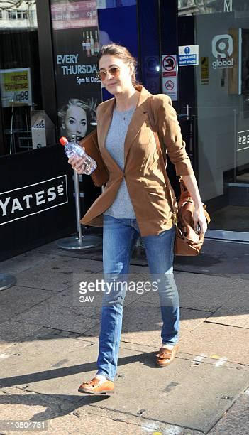 Lisa Snowdon leaving Capital Radio on March 24, 2011 in London, England.