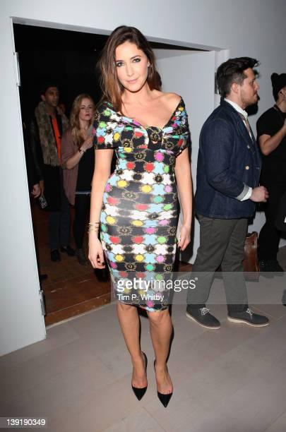 Lisa Snowdon on the front row for PPQ at London Fashion Week Autumn/Winter 2012 at Somerset House on February 17 2012 in London England