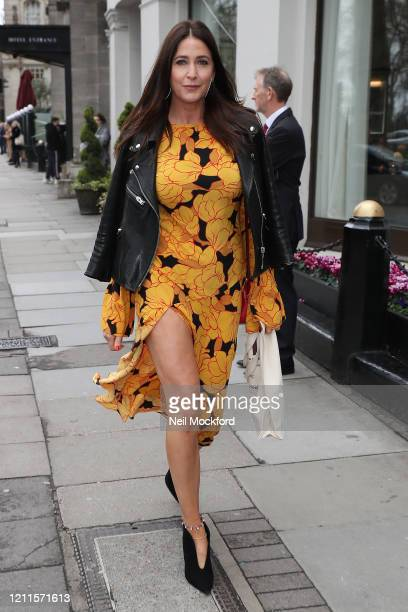 Lisa Snowdon seen arriving for the TRIC Awards at Grosvenor House on March 10 2020 in London England