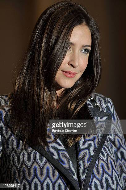 Lisa Snowdon seen at the front row at the Truimph show at London Fashion Week Autumn/Winter 2011 on February 22 2011 in London England