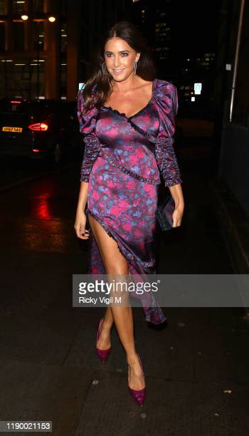 Lisa Snowdon seen attending Global's Make Some Noise Night Gala at Finsbury Square on November 25, 2019 in London, England.