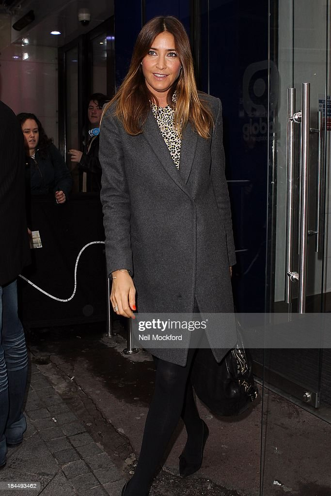 Lisa Snowdon seen leaving Capital FM on October 14, 2013 in London, England.