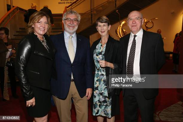 Lisa Sparks PhD Chapman University President Daniele Struppa PhD Margaret Grogan and Michael Wahlster attend LA Opera's Nabucco in Concert starring...