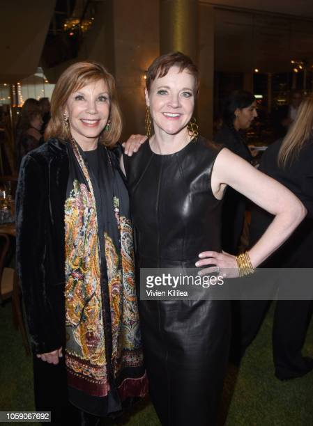 Lisa Specht and The Music Center President and CEO Rachel S Moore attend Joni 75 A Birthday Celebration Live At The Dorothy Chandler Pavilion on...