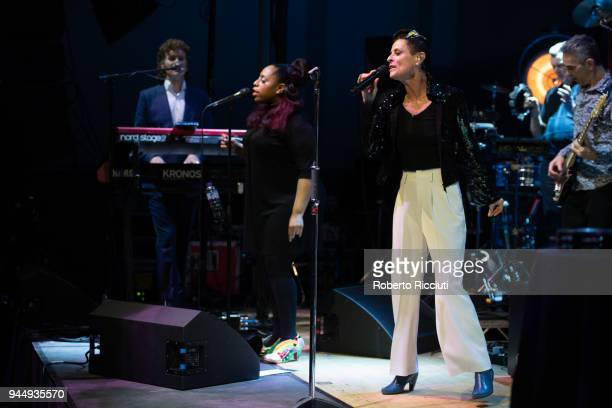 Lisa Stansfield performs on stage at The Queen's Hall on April 11, 2018 in Edinburgh, Scotland.