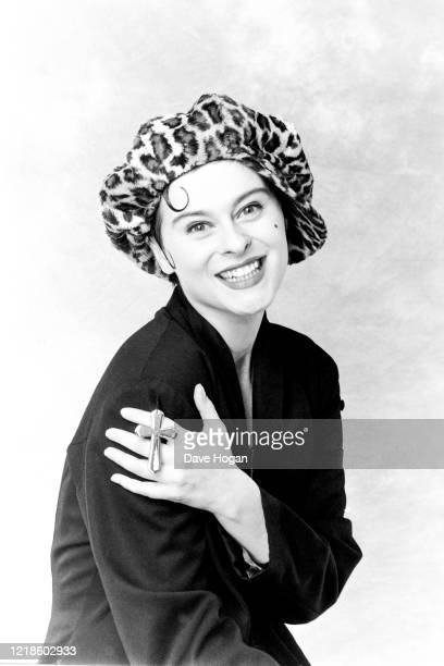 Lisa Stansfield poses for a portrait during the recording of 'Do They Know It's Christmas' for Band Aid 2 in 1989