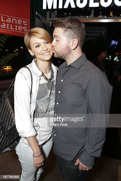 Lisa Stelly and Jack Osbourne attend the unofficial Dancing With The Stars afterparty at Mixology101 on November 11 2013 in Los Angeles California