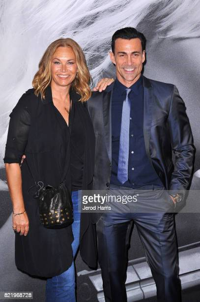 Lisa Stothard and Dabiel Bernhardt attend the premiere of 'Atomic Blond' at the Ace Theater on July 24 2017 in Los Angeles California