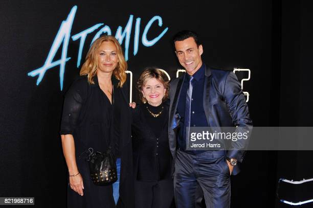 Lisa Stothard Gloria Allred and actor Daniel Bernhardt attend the premiere of 'Atomic Blond' at the Ace Theater on July 24 2017 in Los Angeles...