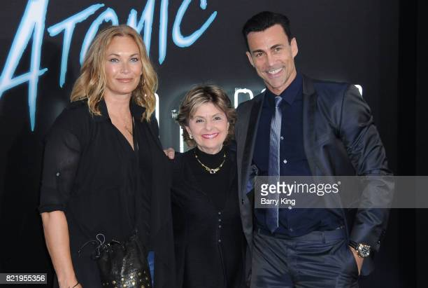 Lisa Stothard lawyer Gloria Allred and actor Daniel Bernhardt attend the premiere of Focus Features' 'Atomic Blonde' at The Theatre at Ace Hotel on...