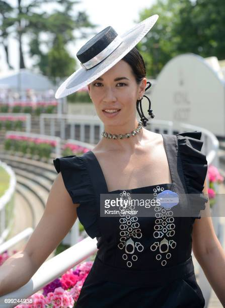 Lisa Tan attends day 2 of Royal Ascot at Ascot Racecourse on June 21 2017 in Ascot England