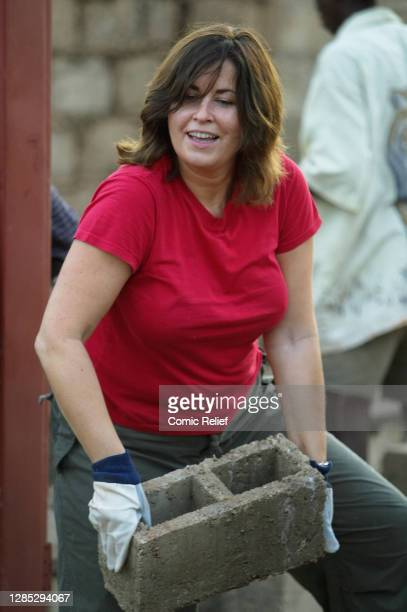 Lisa Tarbuck takes part in Red Nose Day on March 11, 2005.