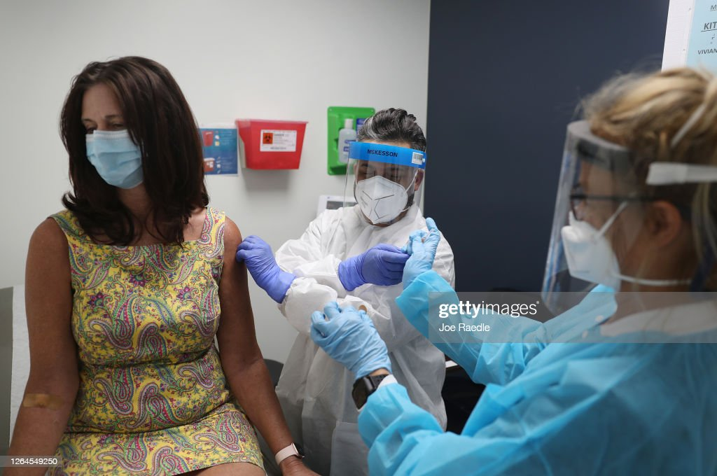 Florida Volunteers Take Part In COVID-19 Vaccine Trials : News Photo