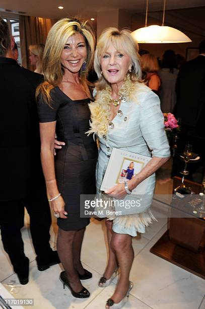 Lisa Tchenguiz and Liz Brewer attend Liz Brewer's 'Ultimate Guide To Party Planning Etiquette' Book Launch Party on June 18 2011 at the Westbury...