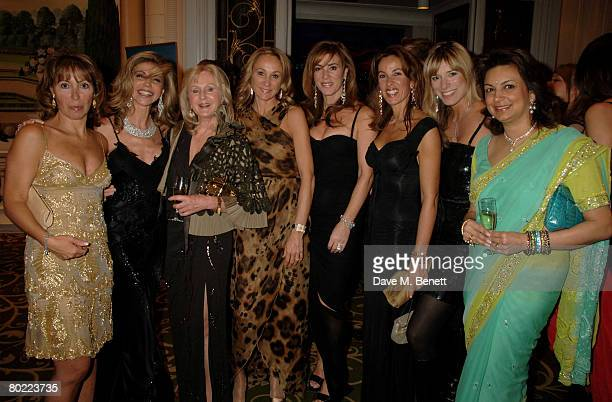 Lisa Tchenguiz and Liz Brewer attend the Mayfair Personality Of The Year at the Grosvenor House Hotel on March 12 2008 in London England
