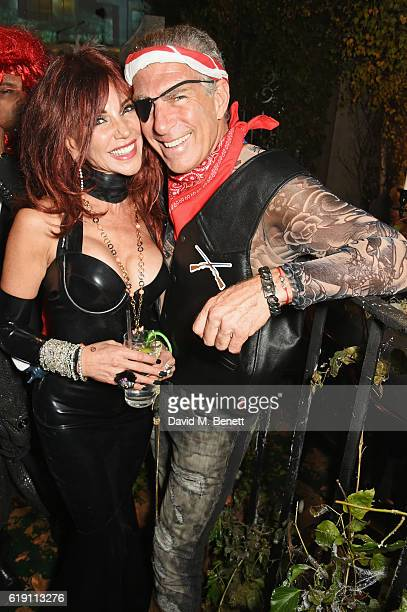 Lisa Tchenguiz and Steve Varsano attend Halloween at Annabel's at 46 Berkeley Square on October 29 2016 in London England