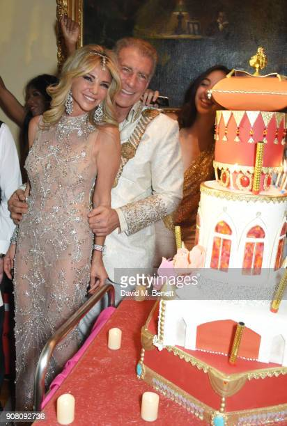 Lisa Tchenguiz and Steve Varsano attend Lisa Tchenguiz's birthday party on January 20 2018 in London England