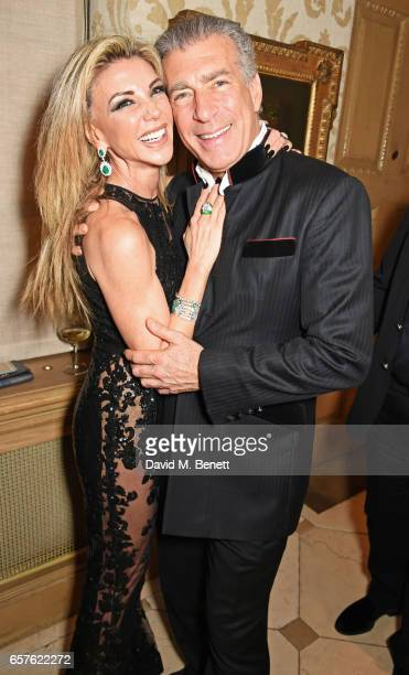 Lisa Tchenguiz and Steve Varsano attend Lisa Tchenguiz's party hosted by Fatima Maleki in Mayfair on March 24 2017 in London England