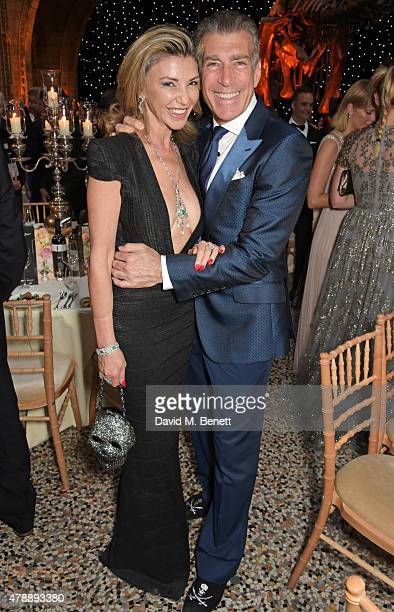 Lisa Tchenguiz and Steve Varsano attend the 2015 FIA Formula E Visa London ePrix Gala Dinner at the Natural History Museum on June 28 2015 in London...