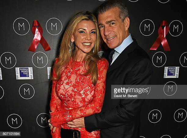 Lisa Tchenguiz and Steve Varsano attend the launch of M Victoria Street in aid of Terrence Higgins Trust on January 27 2016 in London England