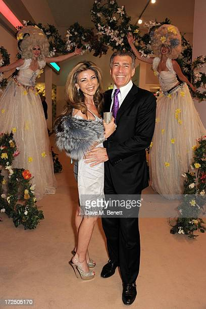Lisa Tchenguiz and Steve Varsano attend The Masterpiece Midsummer Party in aid of Marie Curie Cancer Care hosted by Heather Kerzner at The Royal...