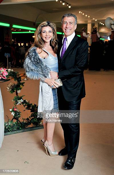 Lisa Tchenguiz and Steve Varsano attend the Masterpiece Midsummer Party in aid of Marie Curie at The Royal Hospital Chelsea on July 2 2013 in London...