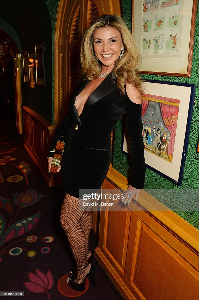 Lisa Tchenguiz attends a private dinner hosted by Fawaz Gruosi, founder of de Grisogono, at Annabels on April 28, 2016 in London, England.