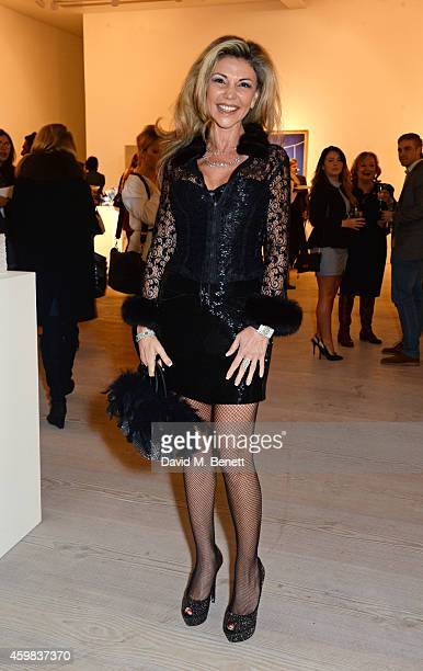 """Lisa Tchenguiz attends a private view of """"And The Stars Shine Down"""" by Stasha Palos at the Saatchi Gallery on December 2, 2014 in London, England."""