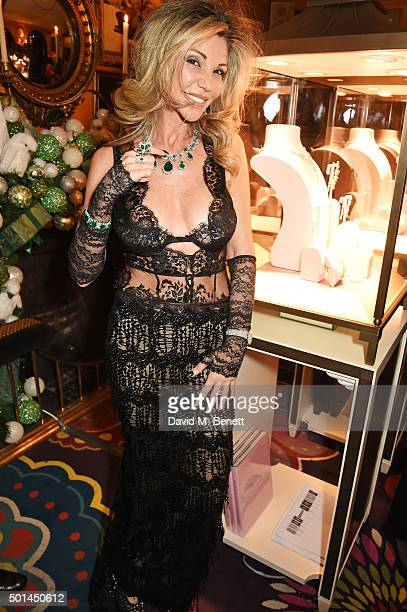 Lisa Tchenguiz attends a reception and fashion show at the David Morris and Agent Provocateur party which she hosted with Jeremy Morris at Annabel's...