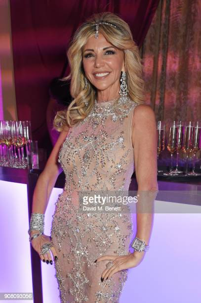 Lisa Tchenguiz attends her birthday party on January 20 2018 in London England