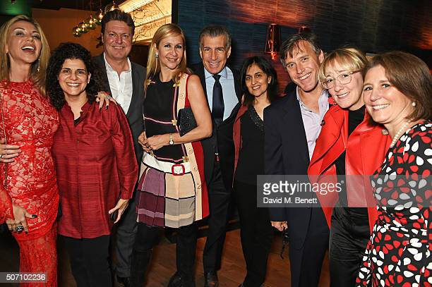 Lisa Tchenguiz Hanan Kattan Rod Barker Tania Bryer Steve Varsano Shamim Sarif guest Marisa Drew and Tricia Wilber attend the launch of M Victoria...
