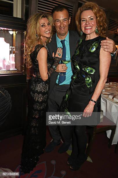 Lisa Tchenguiz Jeremy Morris and Erin Morris attend a private dinner hosted by Jeremy Morris and Lisa Tchenguiz to celebrate David Morris and Agent...