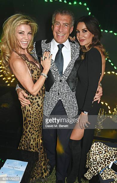 Lisa Tchenguiz Steve Varsano and Shadi Ritchie attend The Animal Ball 2016 presented by Elephant Family at Victoria House on November 22 2016 in...