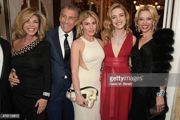 Lisa Tchenguiz Steve Varsano Hofit Golan Natalia Vodianova and guest attend The Backstage Gala in aid of The Naked Heart Foundation at The London...