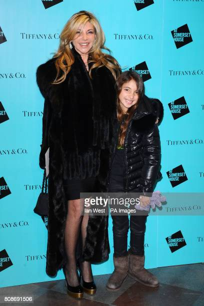 Lisa Tchenguiz with her daughter Ariella at the launch of Skate At Somerset House in LondonPicture date Monday 22nd November 2010