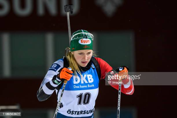 Lisa Theresa Hauser of Austria looks on during the Women 15 km Individual Competition at the BMW IBU World Cup Biathlon Oestersund at on December 5,...