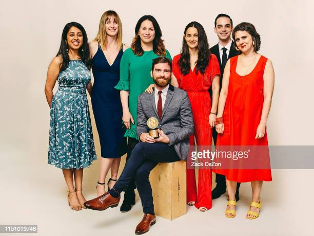 Lisa Tobin Wendy Dorr Andy Mills Rukmini Callimachi Asthaa Chaturvedi Brad Fisher and Larissa Anderson of Caliphate pose for a portrait during The...