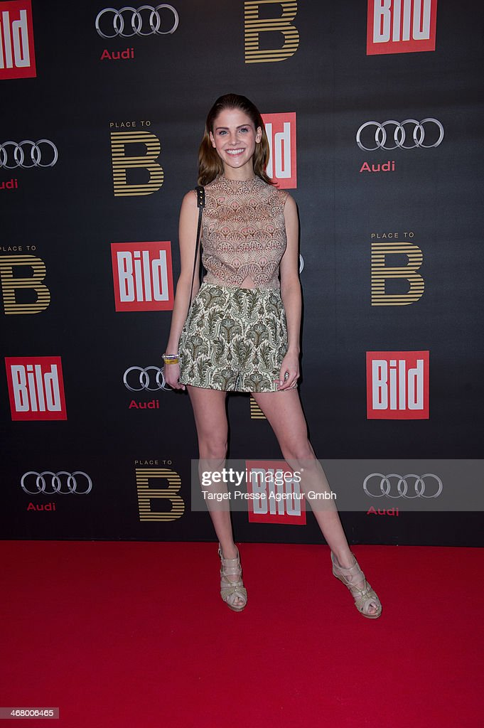 Lisa Tomaschewski attends the BILD 'Place to B' Party at Grill Royal on February 8, 2014 in Berlin, Germany.