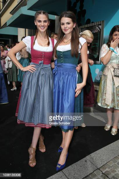 Lisa Tomaschewsky and Ruby O Fee during the 'Fruehstueck bei Tiffany' at Tiffany Store ahead of the Oktoberfest on September 22 2018 in Munich Germany